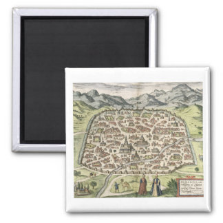 Town map of Damascus, Syria, 1620 (engraving) Magnet