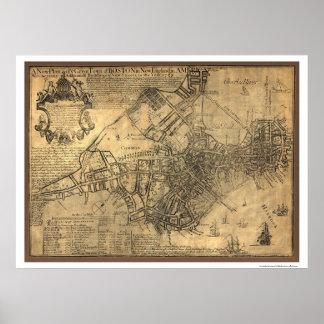 Town of Boston Map - 1769 Print