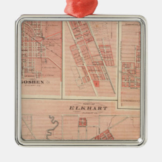 Town of Elkhart, Elkhart Co with Goshen Christmas Ornament