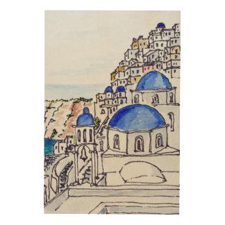 Town of Oia | Island of Santorini, Greece Wood Print