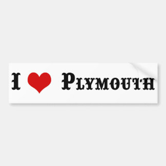 Town of PLYMOUTH MA Bumper Sticker