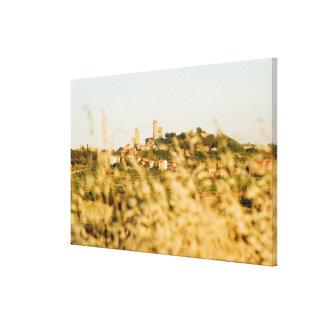 Town on a hill, San Gimignano, Siena Province, Canvas Print