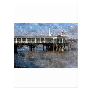 Town Pier Gravesend Kent England Postcard