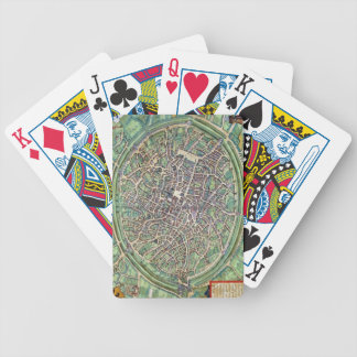 Town Plan of Bruges, from 'Civitates Orbis Terraru Bicycle Playing Cards