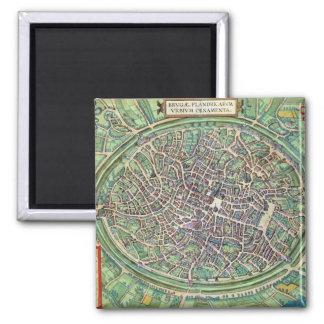 Town Plan of Bruges, from 'Civitates Orbis Terraru Magnet