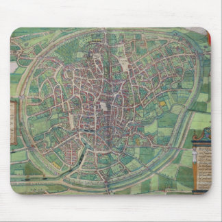Town Plan of Brussels, from 'Civitates Orbis Terra Mouse Pad