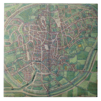 Town Plan of Brussels, from 'Civitates Orbis Terra Tile