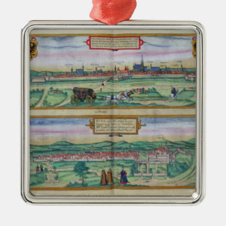 Town Plan of Vienna and Buda, from 'Civitates Orbi Christmas Ornament