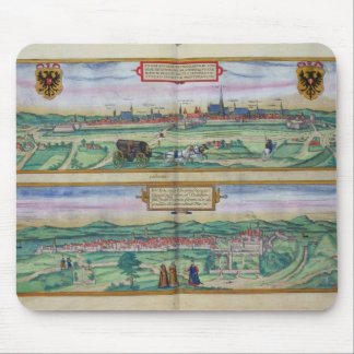 Town Plan of Vienna and Buda, from 'Civitates Orbi Mouse Pad