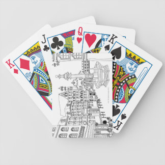 Town Square Fountain Bicycle Playing Cards