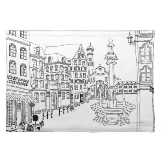 Town Square Fountain Placemat