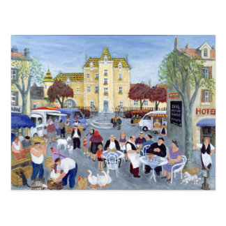 Town Square in Burgundy Postcard