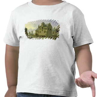Town square with figures and peasants trading t shirt