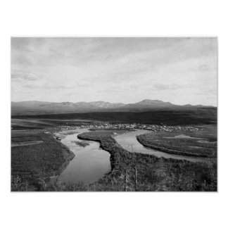 Town View of Iditarod, Alaska Photograph Poster