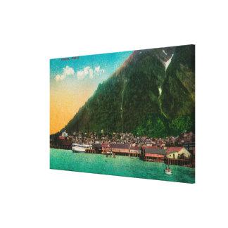 Town View of Juneau, AlaskaJuneau, AK 2 Canvas Print