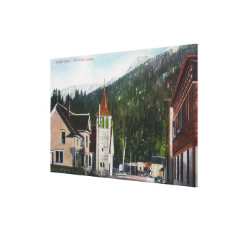 Town View of Mission StreetKetchikan, AK Canvas Print