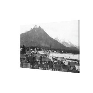 Town View of Sitka, Alaska PhotographSitka, AK Canvas Print