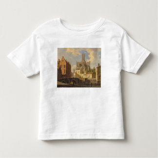Town View with Figure fishing in a Canal Toddler T-Shirt