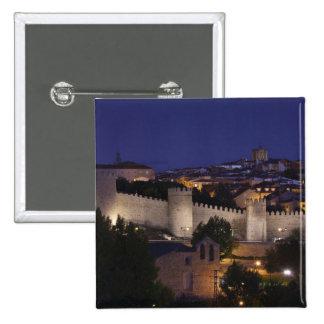 Town walls from Los Cuarto Postes, dusk 15 Cm Square Badge