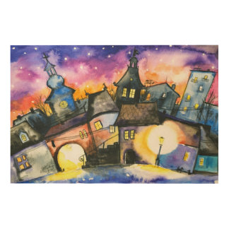 Town Wood Canvas