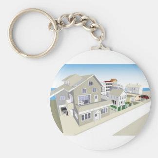 TownandCommunity Basic Round Button Key Ring