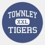 Townley - Tigers - Junior - Townley Alabama Round Stickers