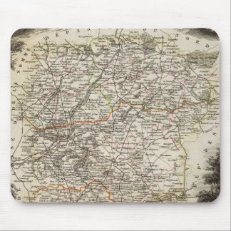 Towns and cities shown Color along boundaries Mouse Mat