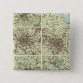 Towns of England & Scotland on a uniform scale 15 Cm Square Badge