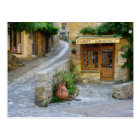 Townscape in Dordogne, France postcard