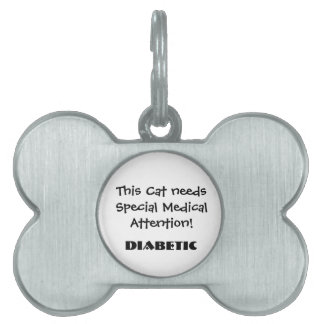 TOWT - Medical Attention Cat Tag Diabetic Pet Tag