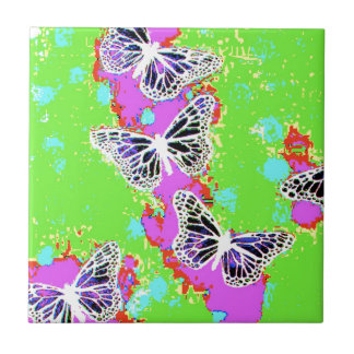 Toxic Butterflies Small Square Tile