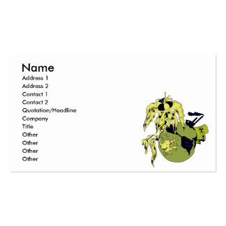 toxic planet pack of standard business cards
