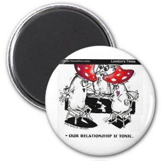 Toxic Relationships Funny Gifts Tees Collectibles 6 Cm Round Magnet