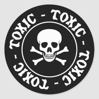 Toxic Skull and Crossbones Sticker