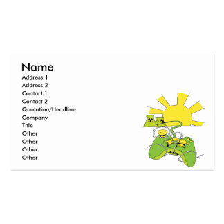 toxic video game pad controller business cards