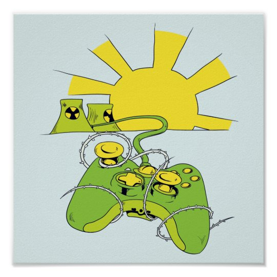 toxic video game pad controller poster