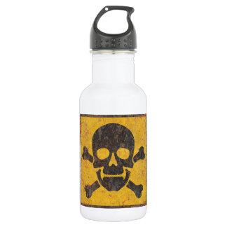 Toxic Warning Sign 532 Ml Water Bottle