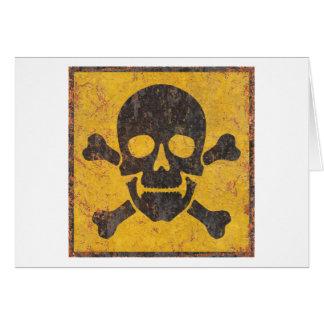 Toxic Warning Sign Greeting Card