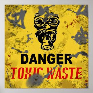 "Toxic Waste Zombie Apocalypse 12"" x 12"" Poster"