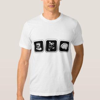 Toxic Waste Zombie Brains T-shirts