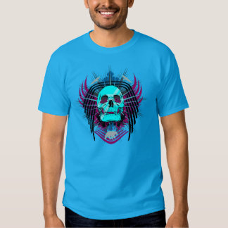 Toxic Winged Skull Graphic T-Shirt