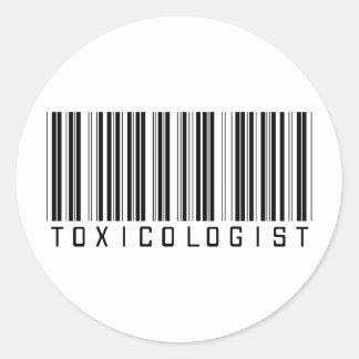 Toxicologist Barcode Classic Round Sticker