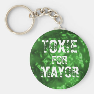 TOXIE FOR MAYOR BASIC ROUND BUTTON KEY RING