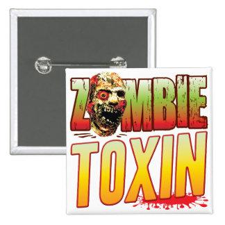 Toxin Zombie Head Badges