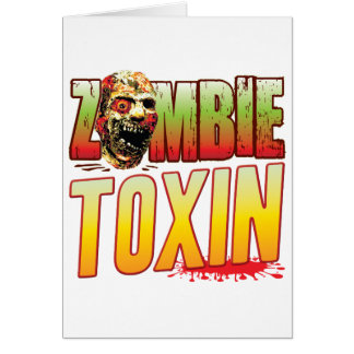 Toxin Zombie Head Greeting Card