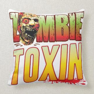 Toxin Zombie Head Throw Pillow