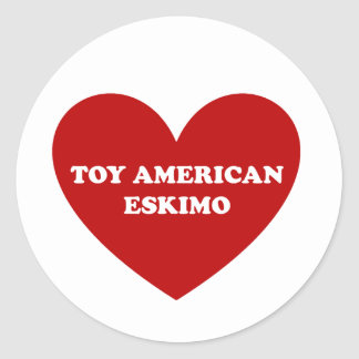 Toy American Eskimo Dog Classic Round Sticker