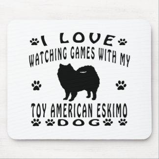 Toy American Eskimo Dog Design Mouse Pad