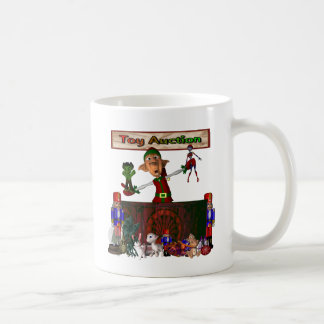 Toy Auction Elf Design Christmas Holiday Coffee Mugs