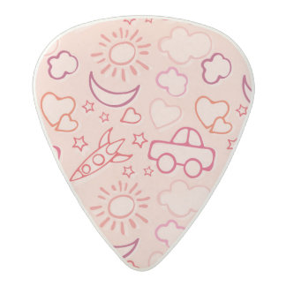 toy background acetal guitar pick